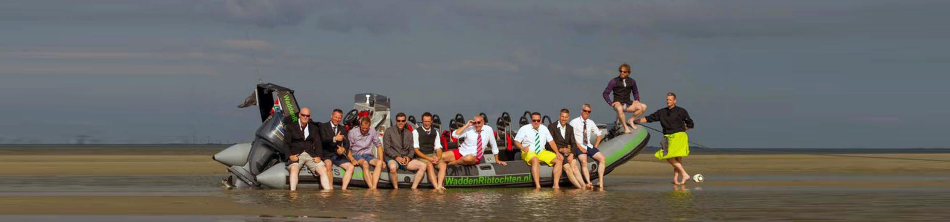 Vrijgezellenfeest Waddenribtochten Groningen Delfzijl Eemshaven Waddenzee