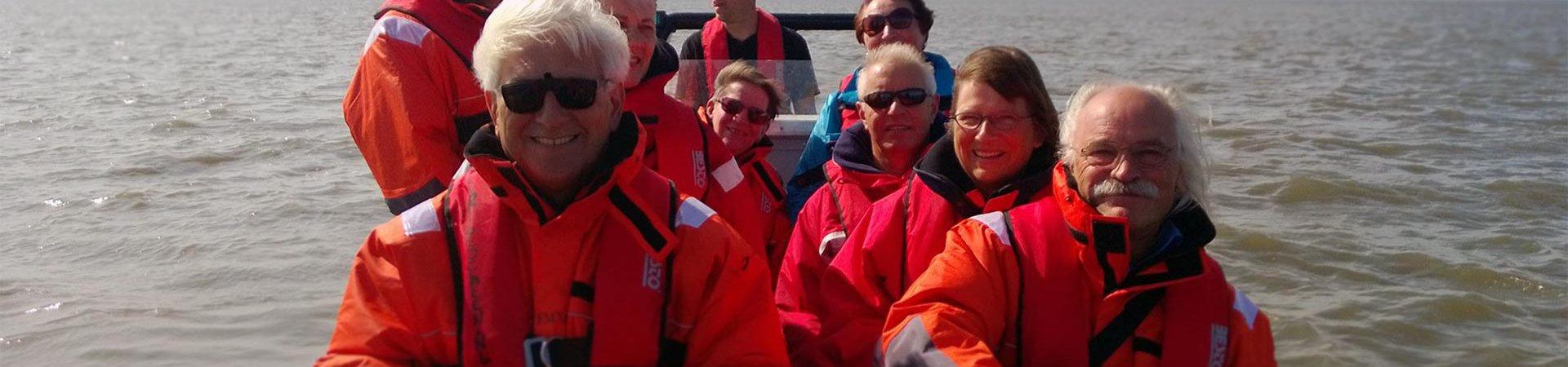 Bedrijfsuitje - varen op de waddenzee vanuit de Eemshaven en Delfzijl - Waddenribtochten