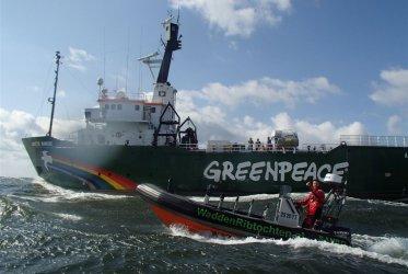 Vaarondersteuning Greenpeace schip - Waddenribtochten Eemshaven Delfzijl